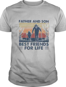 Hiking Father and son best friends for life vintage retro shirt