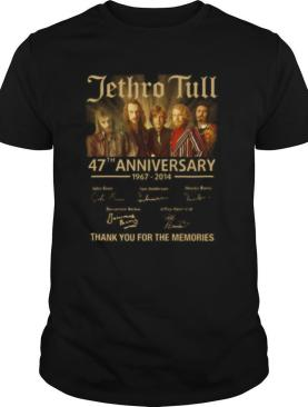 Jethro tull 47th anniversary 1967 2014 thank you for the memories signatures shirt