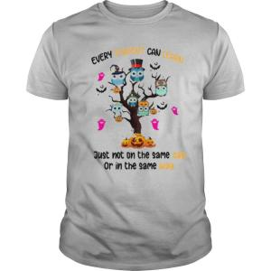 Halloween Owl Tree Every Student Can Learn Just Not On The Same Day Or In The Same Day shirt
