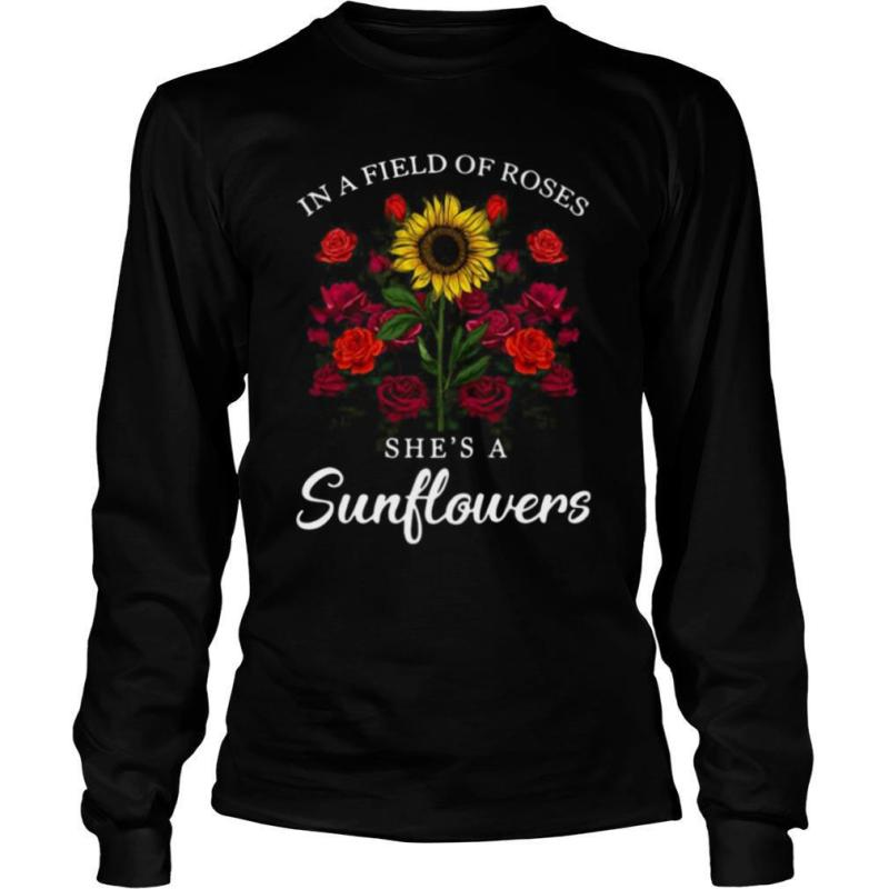 Jack Skellington In Field Of Roses She's A Sunflowers shirt