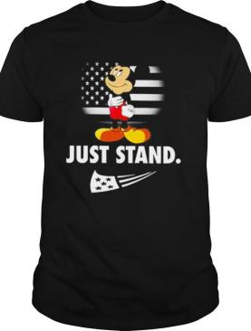 Mickey Mouse just stand American flag shirt