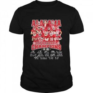 Alabama Cfp National Champions 2021 Signature Player Team Football  Classic Men's T-shirt