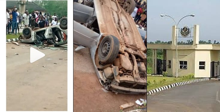 Angry students attack and destroy vehicle of SARS for storming their campus to arrest them