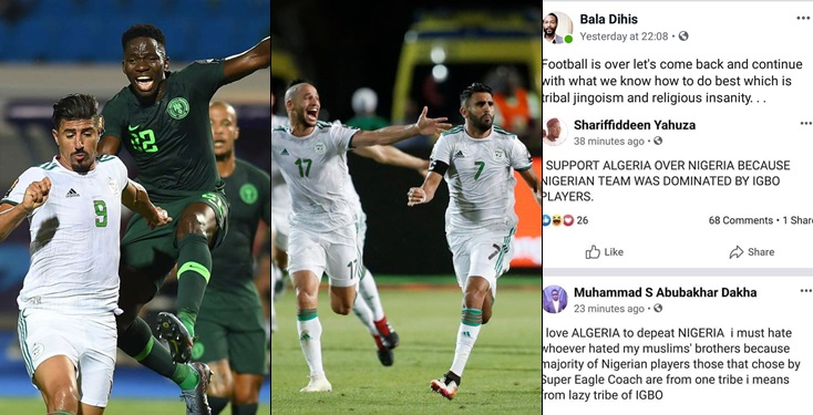 Northerners shock Nigerians after supporting opponents for winning, says super eagles are all IBO