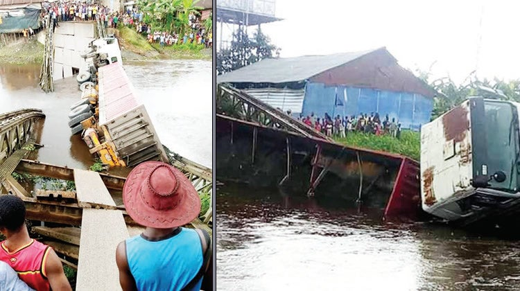 Truck destroys Bayelsa bridge, cuts off community