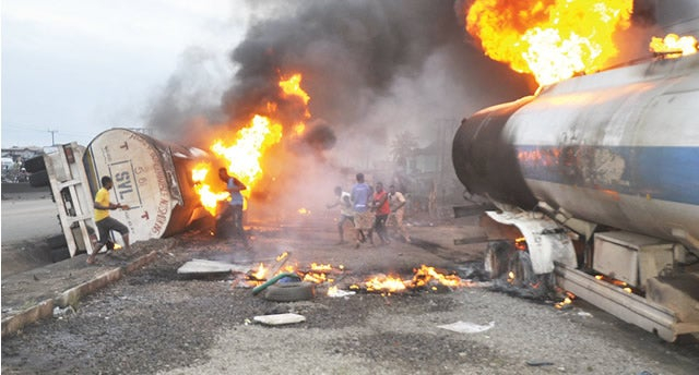Lagos-Ibadan road tanker explosion claims one, four injured
