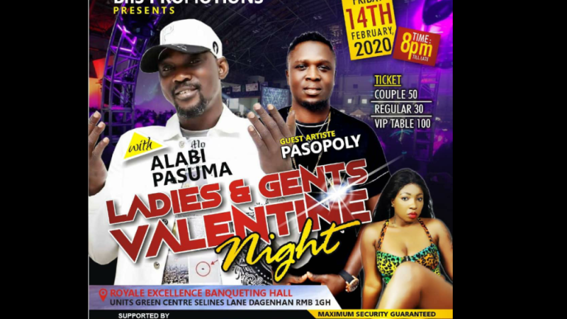Pasuma,Paso Poly To Host Ladies and Gents Valentine Night In London