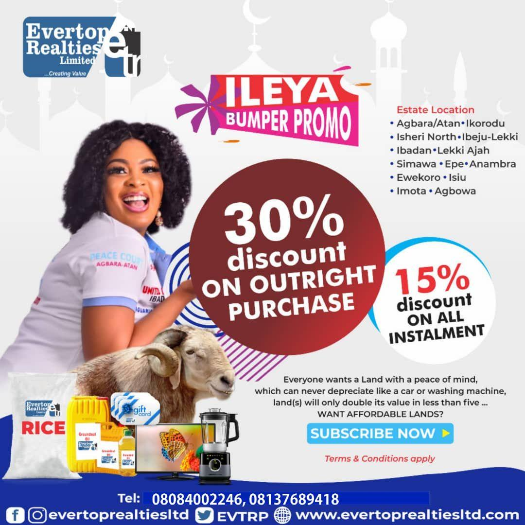 Ileya Promo: Own a plot of land in Lagos with just N962,500