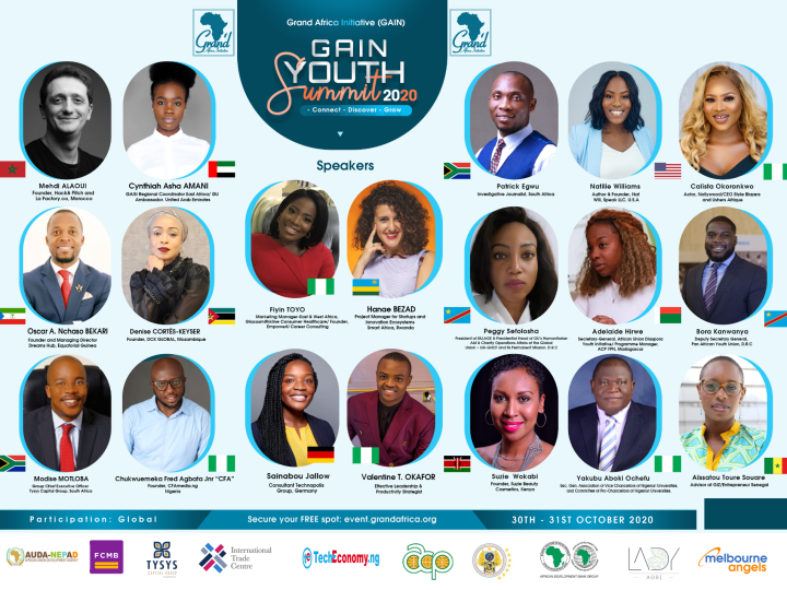 Call to Entry: Register to attend the GAIN Youth Summit 2020 | October 30 – 31
