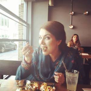 reham khan eating