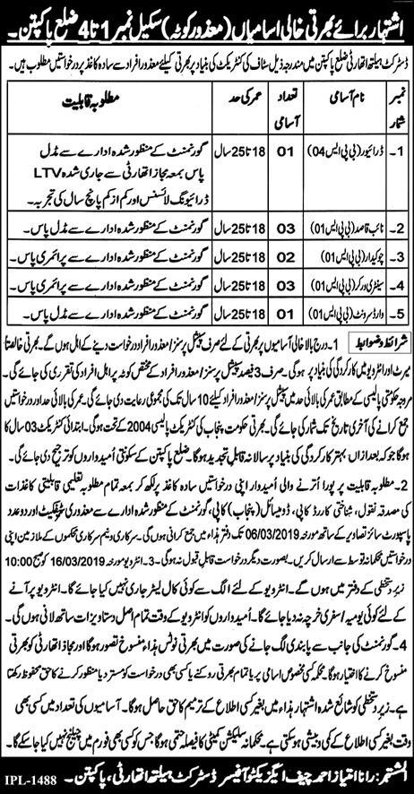 Jobs in District Health Authority- 2019