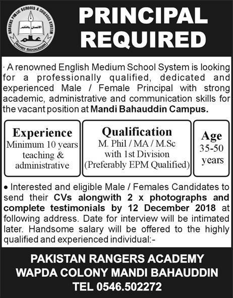 Jobs in Pakistan Rangers 2019