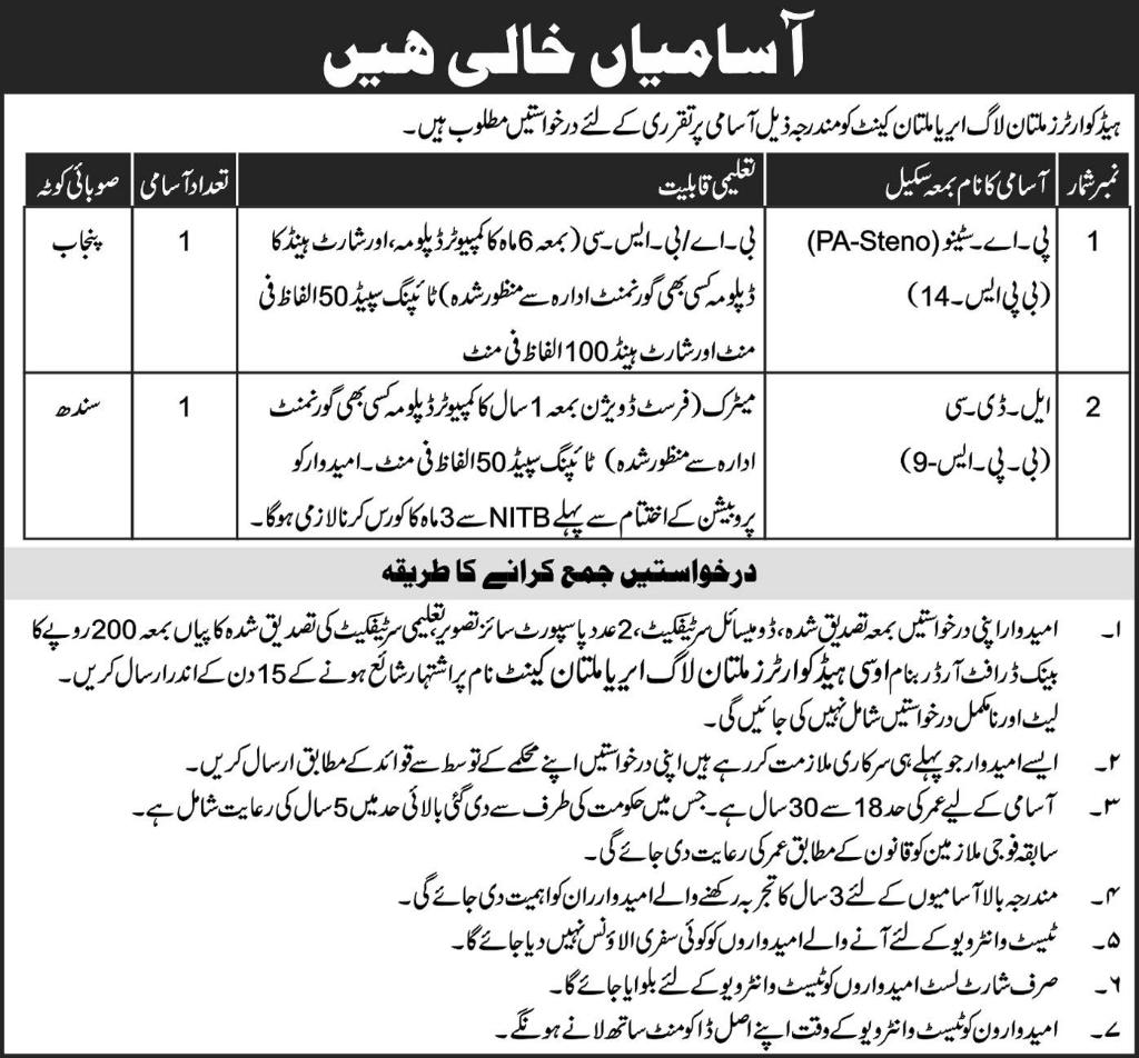 Jobs in pak army 2019 – Top News