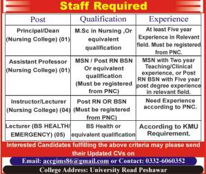 Principal,Assistant Professor,Instructor and Lecturer are Required 2019