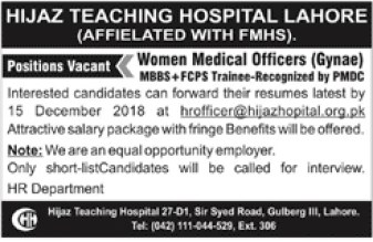 jobs in private hospital 2019