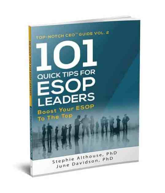 """Executive coaching based on Dr. Stephie's book """"101 Quick Tips for ESOP Leaders"""""""