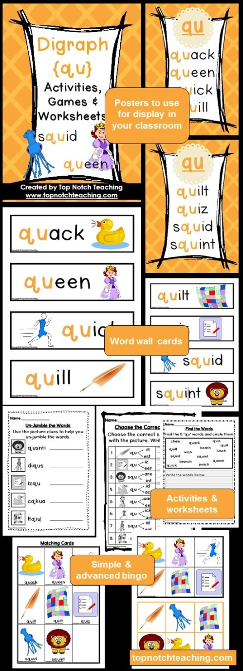 small resolution of Digraph Worksheets First Grade