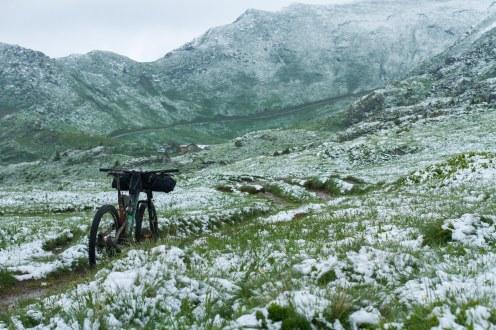 Hitting fresh snow above Avoriaz.