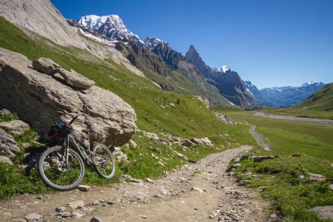 Val Veny, with the Aiguille Noir de Peuterey and Mont Blanc de Courmayeur on the left-hand skyline