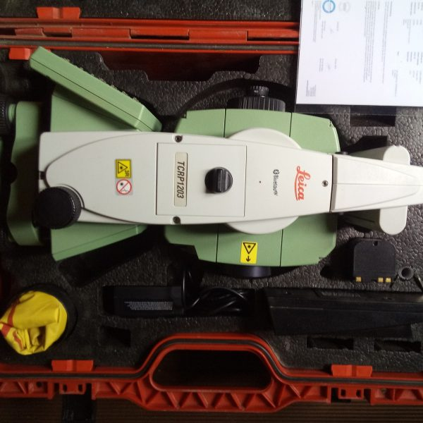 Leica station robotisée TCRP1201 Geocom ouvert.