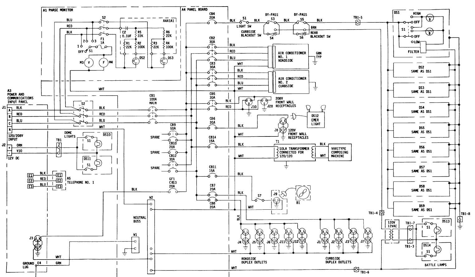 FO-7. Drafting Support Section Electrical Schematic