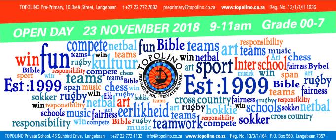 Topolino Open Day Invitation 23 November 2018