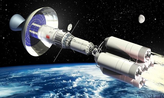 Так бы мог выглядеть Тяжёлый межпланетный корабль