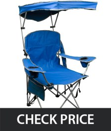 Quick Shade Adjustable Canopy Folding Camp Chair