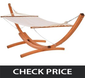 Outsunny-Wide-Outdoor-Arch-Wooden-Hammock