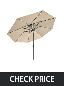 EliteShade Sunbrella Solar Lights Umbrella