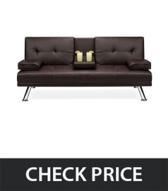 Best-Choice-Products-Faux-Leather-Folding-Futon-Sofa