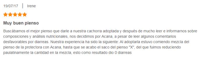 Pienso Acana: opiniones