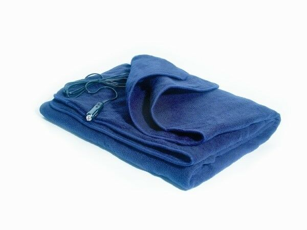 Comfy Cruise Heated Blanket Navy Blue