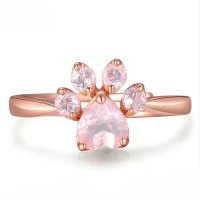 L'toile Rose Gold Paw Ring
