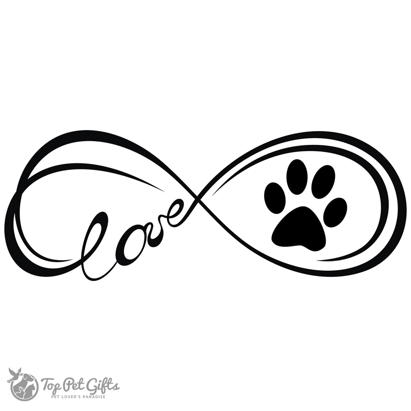 Download Infinity Paw Decal - Top Pet Gifts