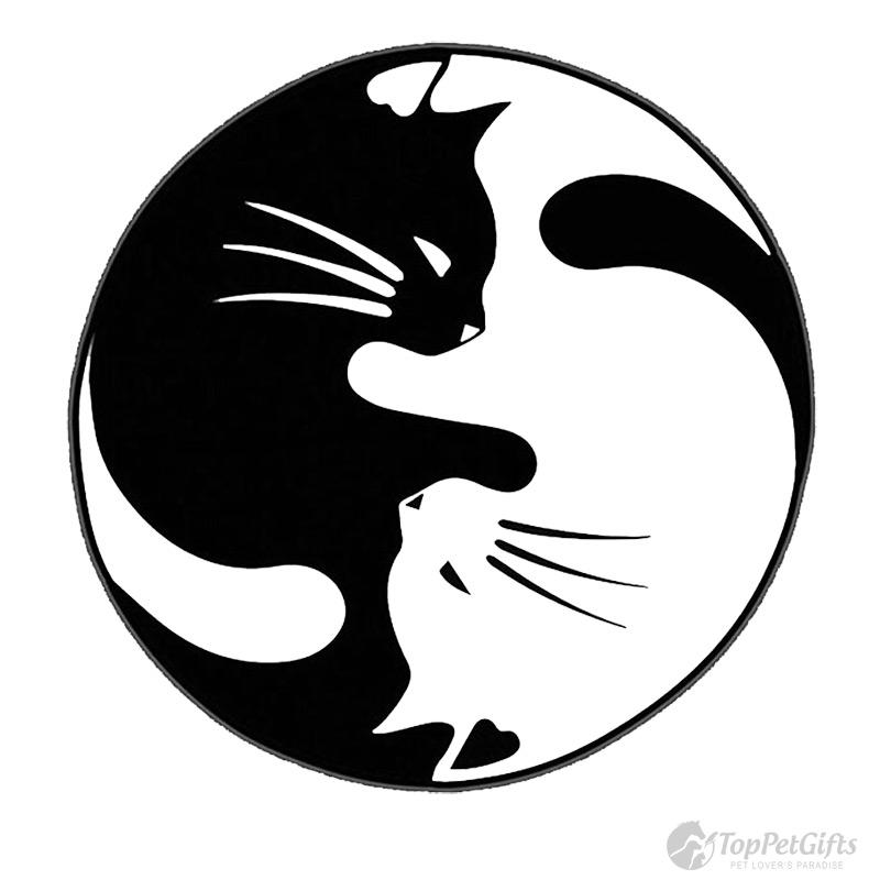 two cats yin yang