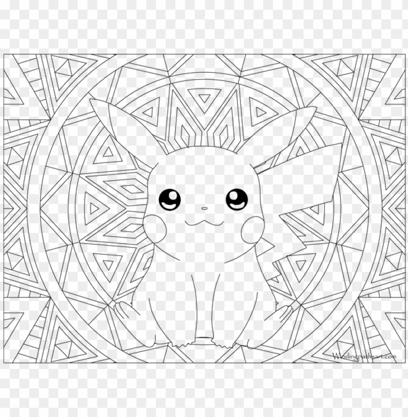 025 Pikachu Pokemon Coloring Page Pokemon Coloring Pages For Adults Png Image With Transparent Background Toppng