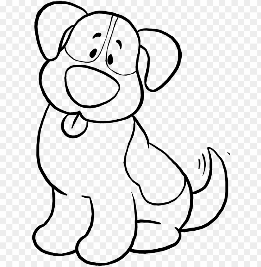 Cute Dog Coloring Pages Simple Dog Coloring Sheet Png Image With Transparent Background Toppng
