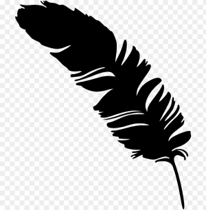 feather simple silhouette transparent silhouettes background onlygfx