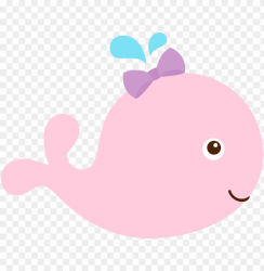 baby mermaid pink baby whale clipart PNG image with transparent background TOPpng