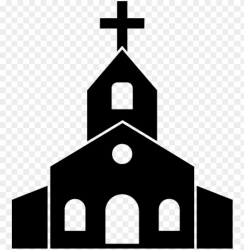 catholic church icon church clipart black and white PNG image with transparent background TOPpng