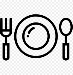 dinner plate fork spoon restaurant food eat comments food plate icon PNG image with transparent background TOPpng