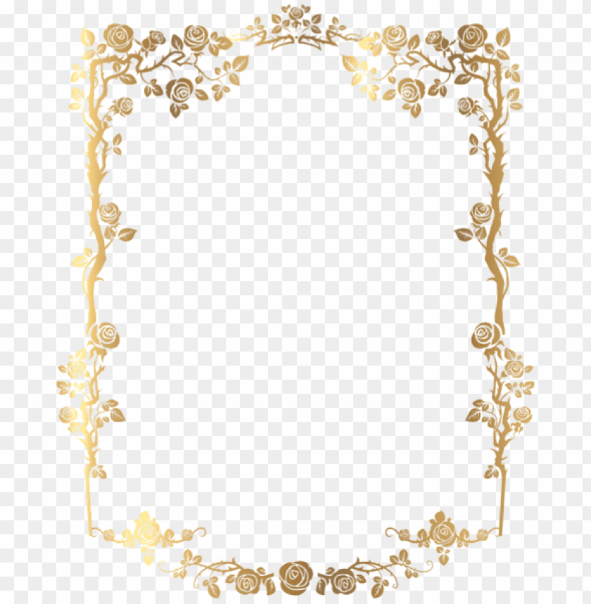gold wedding border png png image with
