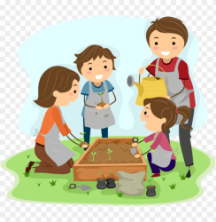 happy happyfamgarden twitter kids gardening clipart PNG image with transparent background TOPpng