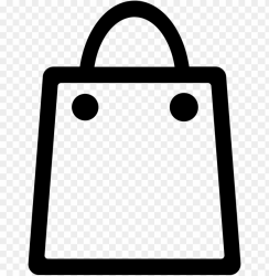 icon app store outline of a shopping ba PNG image with transparent background TOPpng