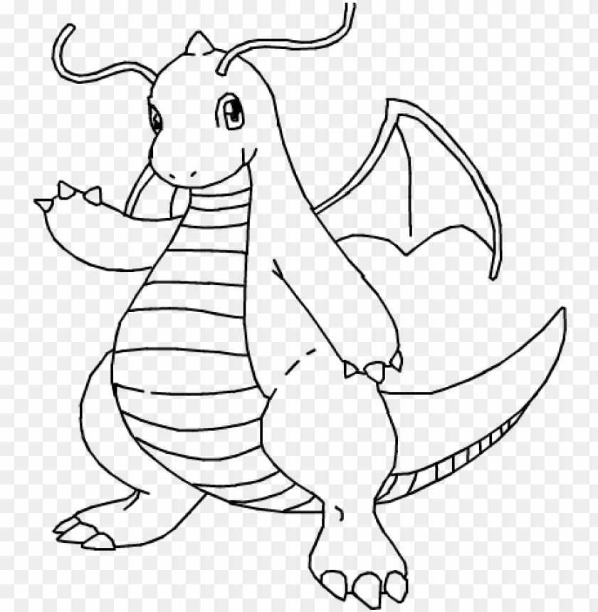 Image Result For Pokemon Dragonite Coloring Pages Coloring Pokemon Coloring Pages Dragonite Png Image With Transparent Background Toppng