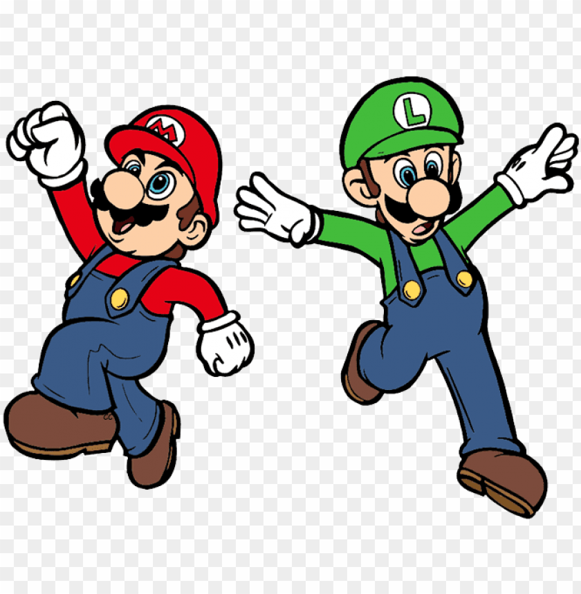 Mario Brothers Drawing At Getdrawings Super Mario Luigi Cartoo Png Image With Transparent Background Toppng