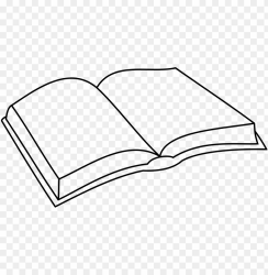 simple open book drawings PNG image with transparent background TOPpng
