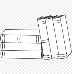 stack of books clipart books black and white PNG image with transparent background TOPpng