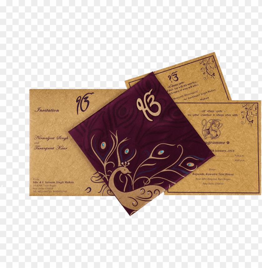 punjabi wedding card designs png image